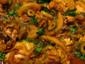 File:Moroccan food-Chicken tagine with preserved lemons and olives-02 ... Morocco