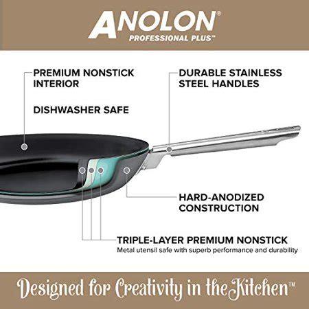 dishwasher pans hard cookware anolon anodized nonstick pots safe professional gray piece