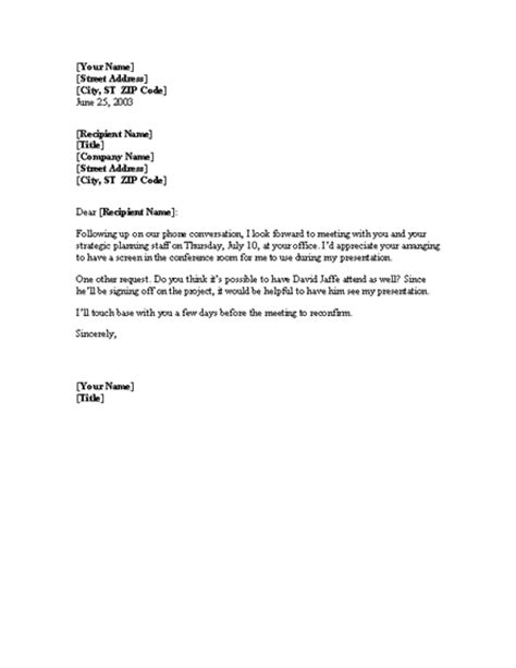 Confirmation Of Meeting For Microsoft Sample Access