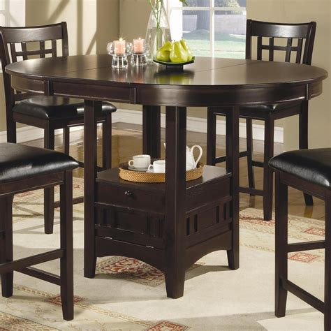 coaster lavon counter height table standard furniture