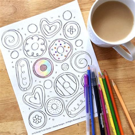 doughnut coloring page  directions