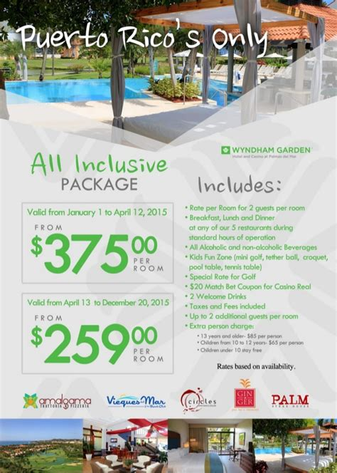 puerto rico all inclusive package at the wyndham garden