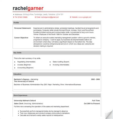 Resumés by 17 Best Images About Resume S Amd Cv S On Free