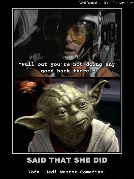 yoda master comedian demotivational poster