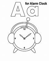 Clock Coloring Alarm Pages Practice Handwriting Library Clipart Popular sketch template