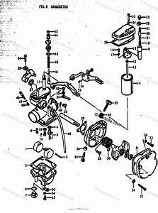 Suzuki Motorcycle 1977 Oem Parts Diagram For Carburetor