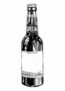 Malvorlage, Bierflasche