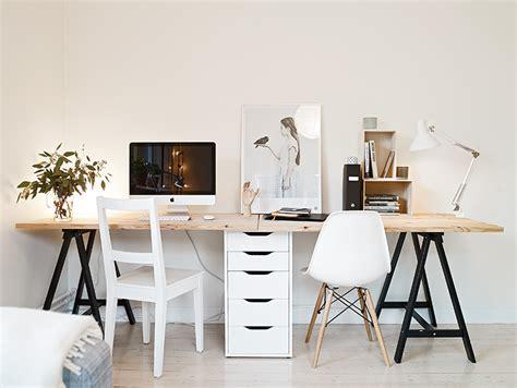 bureau d architecte ikea idée un bureau sur tréteaux 12 inspirations et une
