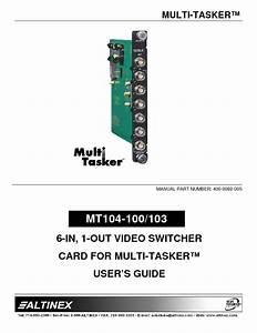 Mt104-100  103 Manuals