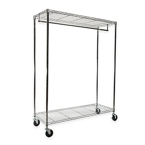 heavy duty clothes rack wide heavy duty garment rack in chrome bed bath