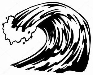 Ola, blanco y negro — Vector de stock © scotferdon #59016419