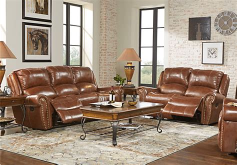$,.-abruzzo Brown Pc Reclining Leather Living
