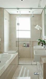Badgestaltung Mit Pflanzen : badezimmer mit dusche einrichten ~ Markanthonyermac.com Haus und Dekorationen