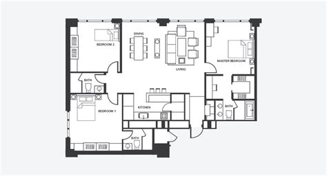 floor plan for duplex three bedroom serviced apartment fraser place central seoul
