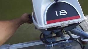 1966 Evinrude 18 Hp On The Lake