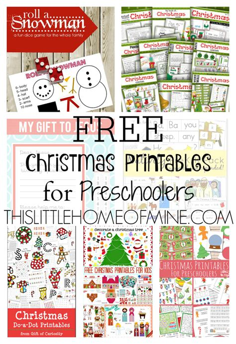 free printables for preschoolers this 177 | Free Christmas Printables for Preschoolers 2