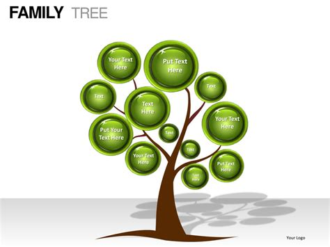 Downloadable Family Tree Template by Family Tree Powerpoint Presentation Templates