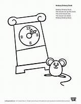 Hickory Dock Dickory Coloring Worksheets Clock Rhyme Speakaboos Printables Mouse Nursery Thumbkin Worksheet Activities Preschool Went Songs Cartoon Rhymes Printablee sketch template