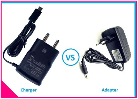 actual difference  charger  adapter etechnog