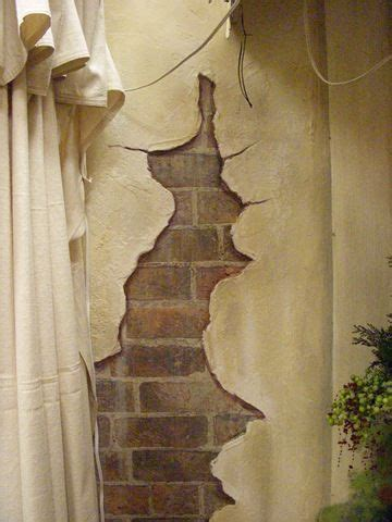 painting faux cracks  walls google search