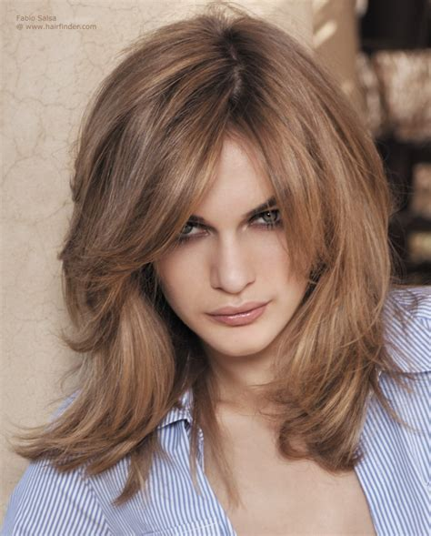 Medium length square haircut, tapered to create a dynamic