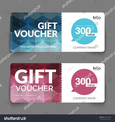 gift voucher discount template layout colorful stock