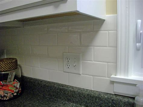 best white subway tile kitchen backsplash all home