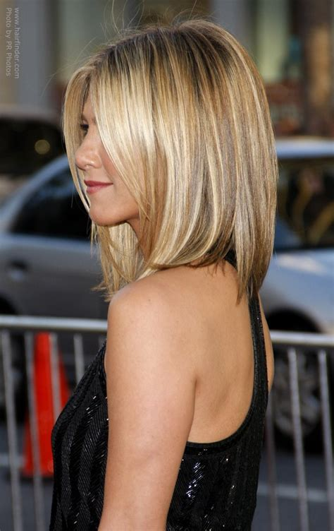 jens hair style aniston wearing hair and angled along