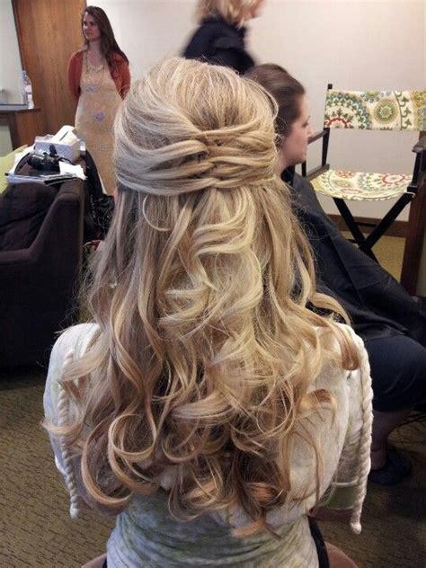 Partial up do Bridesmaid hair long Bridesmaid hair updo