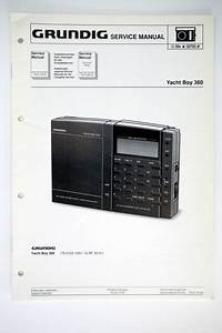 Grundig Yacht Boy 360 Original Service Manual  Guide