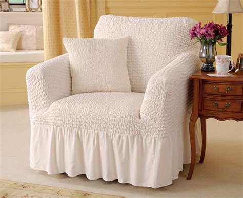 Valanced Armchair Cover And Cushion