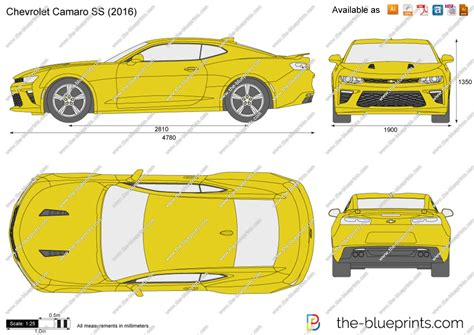 The Blueprints Vector Drawing Chevrolet Camaro