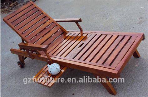 wooden steamer chair reclining sun lounger wood garden