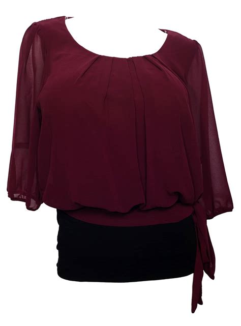 chiffon blouse plus size plus size sheer chiffon scoop neck blouse purple evogues