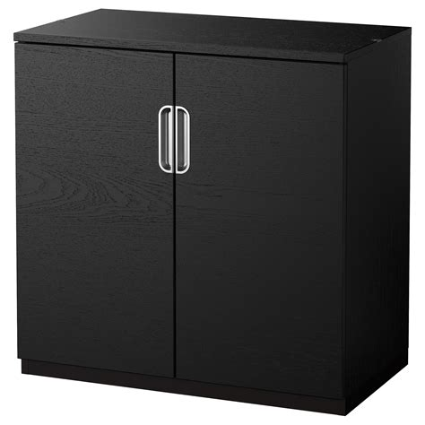 black storage cabinet with doors galant cabinet with doors black brown 80x80 cm ikea