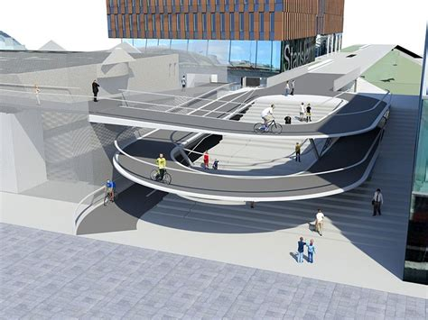 fietsspiraal station leuven architectura be