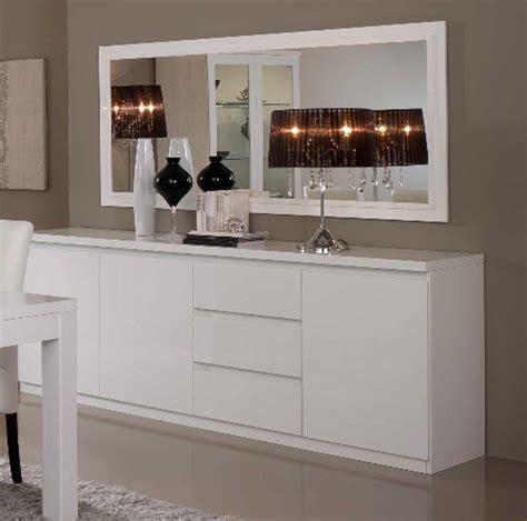 tables cuisine fly bahut 3 portes 3 tiroirs roma laqué blanc