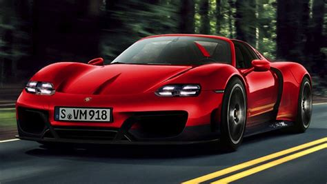 Nuevos 'renders' Del Sustituto Del Porsche 918 Spyder No
