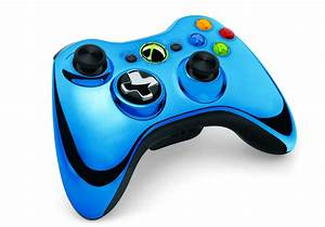 Xbox 360 Limited Edition Blue Chrome Series Controller