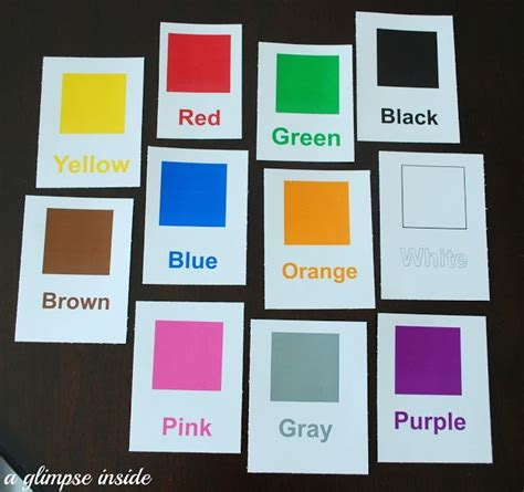 mommy school flashcards  images preschool colors