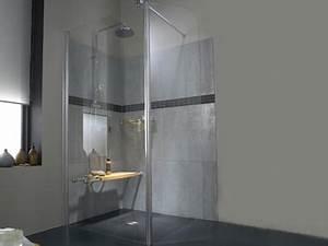 douche italienne 28 modeles et conseils installation With porte de douche coulissante avec faience grise pour salle de bain
