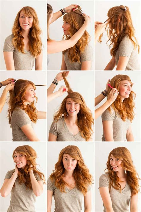 how to style curly wavy hair this year most wavy hairstyles with bangs 1727