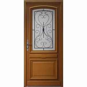 porte d39entree bois gignac artens poussant gauche h215 x With porte d entrée alu avec parquet ipe salle de bain
