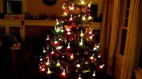 player piano christmas  vintage bubble lights youtube
