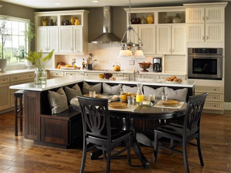 kitchen island with built in table kitchen table gallery