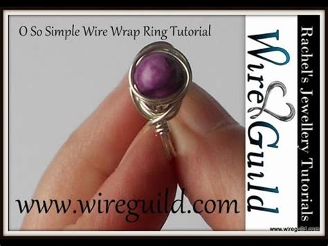 o so simple ring a wire wrap tutorial