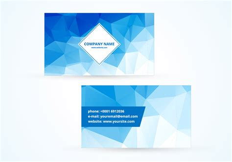Blue Polygonal Vector Business Card Macy's Business Card Holders Etiquette Full Name Visiting Design Online In Tamil Saudi Arabia Templates Free Leather Personalized Software Download Harley Davidson Desk Holder