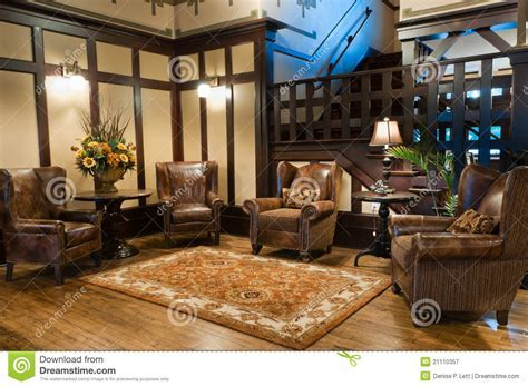 Classic Luxury Hotel Lobby Royalty Free Stock Photography