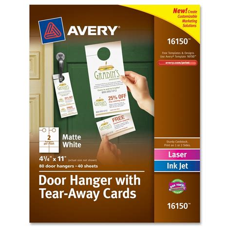 Door Hanger With Tearaway Cards  Ld Products