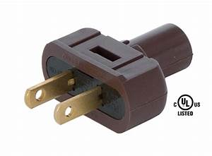 Brown Lamp Plugs For Round Pvc Cord 48557b